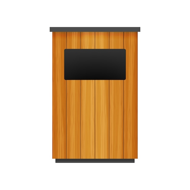 Poubelle dans l'icône du parc. poubelle isolée Vecteur Premium