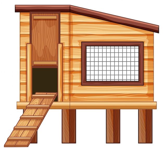 Dessin De Poulailler poulailler en bois | télécharger des vecteurs gratuitement