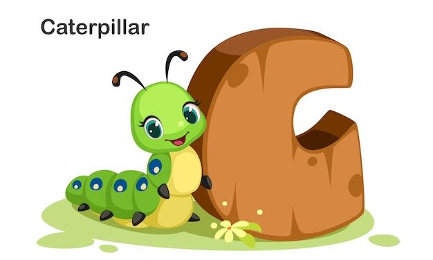C pour caterpillar Vecteur Premium