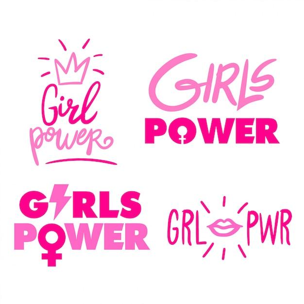 Pouvoir des filles Vecteur Premium