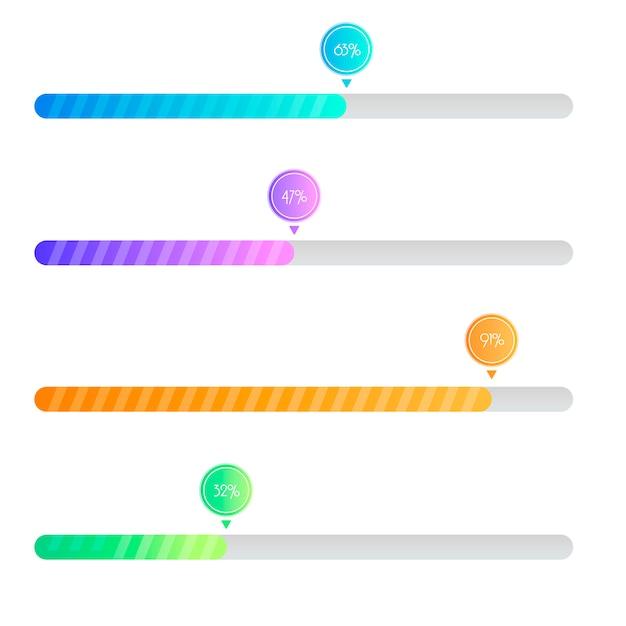 Préchargeur gradient. barre de chargement pour les interfaces web. modèle. Vecteur gratuit