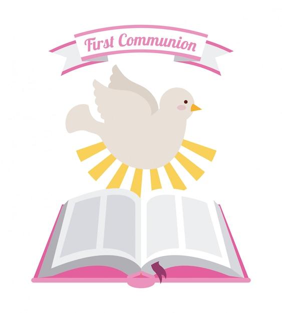 Première communion Vecteur Premium