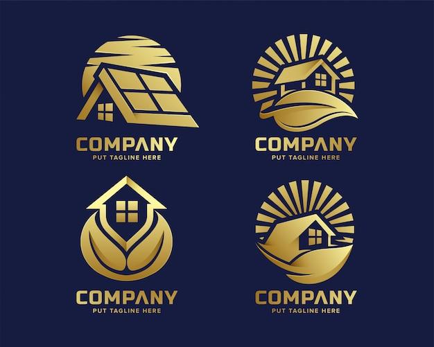 Premium Nature Real Estate Logo Vecteur Premium