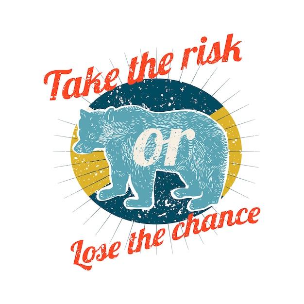 Prendre des risques illustration du logo Vecteur gratuit
