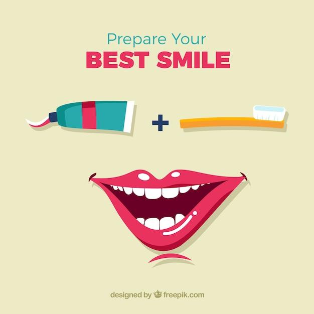 Préparer votre plus beau sourire Vecteur gratuit