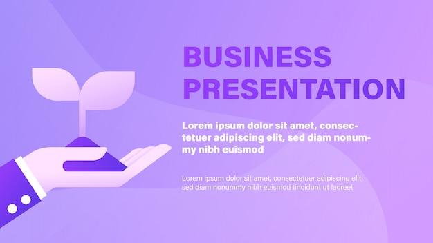 Présentation d'affaires Vecteur Premium