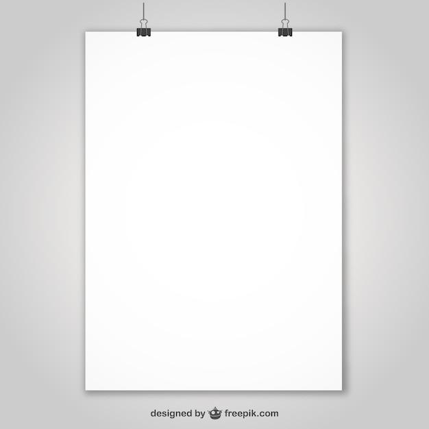 Présentation D'affiches Réaliste Vecteur gratuit