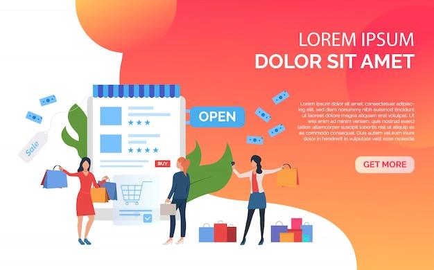 Présentation du modèle de diapositive de vente orange Vecteur gratuit
