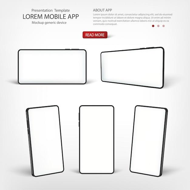 Présentation Du Modèle De Téléphone Intelligent De L'interface. Vecteur Premium