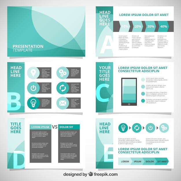 Présentation d'entreprise abstraite avec infographique Vecteur gratuit