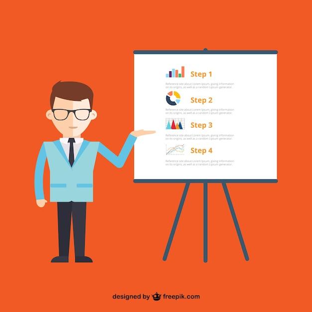 Présentation de l'entreprise infographique Vecteur gratuit
