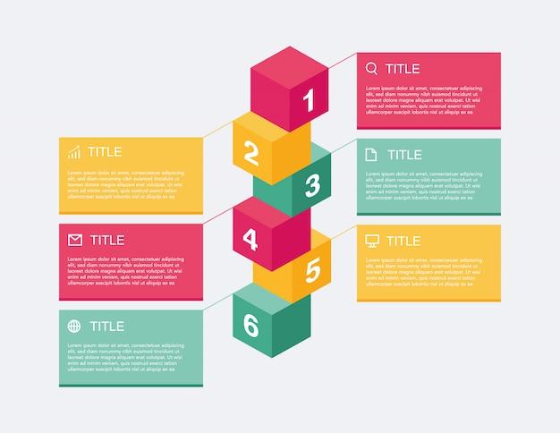 Présentation infographique de l'entreprise Vecteur Premium
