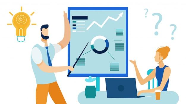 Présentation startup flat Vecteur Premium