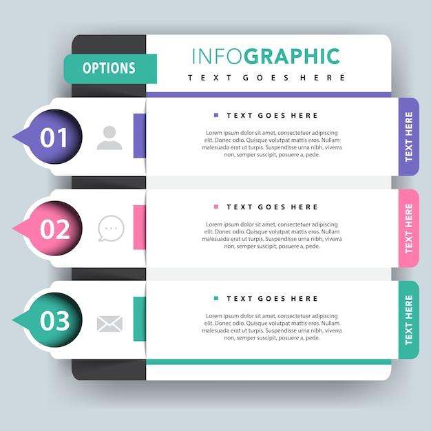 Présentation de vecteur infographique facultatif Vecteur gratuit