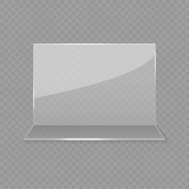 Présentoir De Table En Verre Acrylique Vecteur Premium