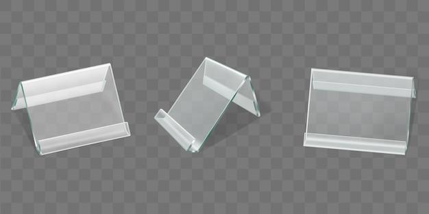 Présentoirs de table en acrylique, porte-cartes en plastique Vecteur gratuit