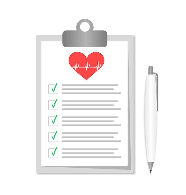 Presse-papiers Avec Documents Hospitaliers. Formulaires D'assurance Médicale Avec Pan. Vecteur Premium