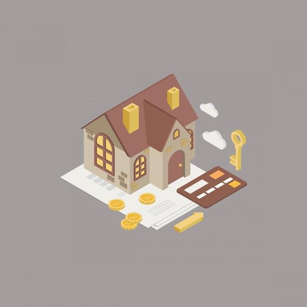 Prêt Hypothécaire Vecteur Premium