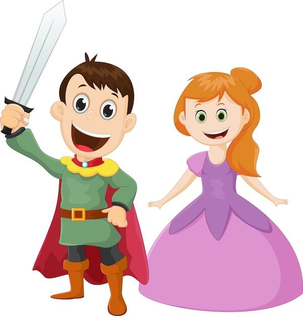 Prince Et Princesse De Dessin Animé Heureux Télécharger