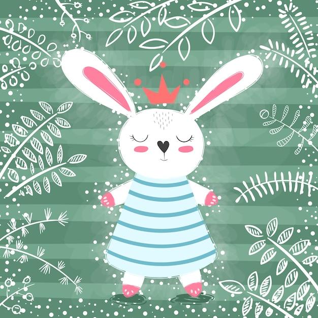 Princesse de lapin Vecteur Premium