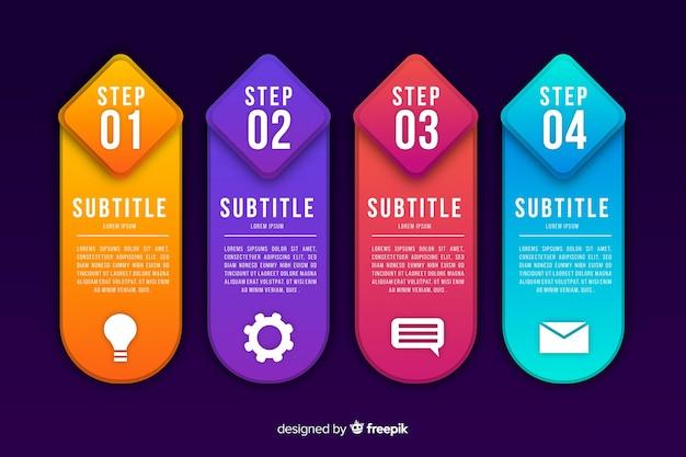 Principales étapes d'amélioration des activités infographiques Vecteur gratuit