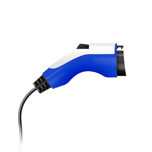 Prise De Charge De Voiture électrique Vecteur Premium