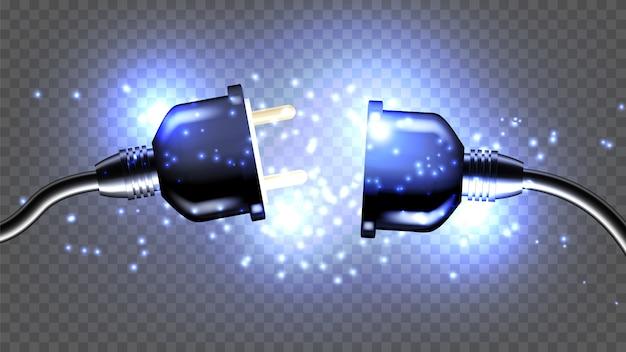 Prise électrique Déconnectée Vecteur Premium