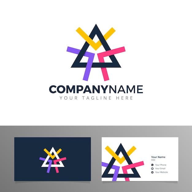Prisme Logo Triangle Blockchain Bitcoin Vecteur Vecteur Premium