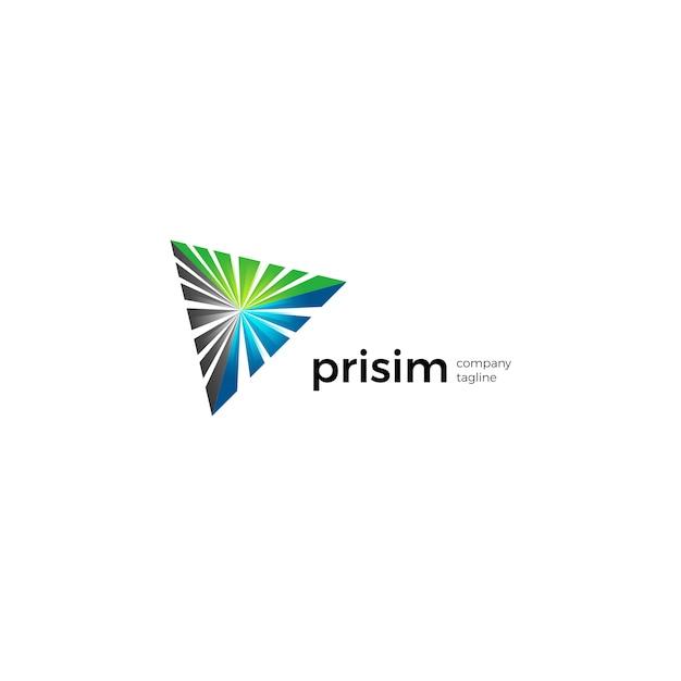 Prisme Logo Vecteur Premium