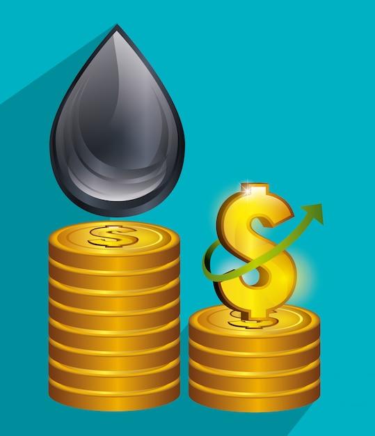 Prix du pétrole et industrie Vecteur gratuit