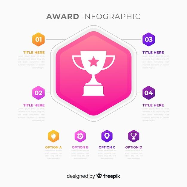 Prix infographique Vecteur gratuit