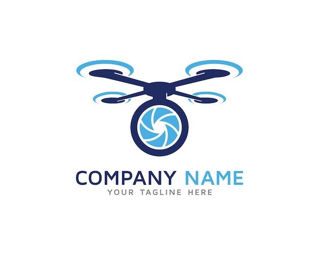 Pro drone logo design Vecteur Premium