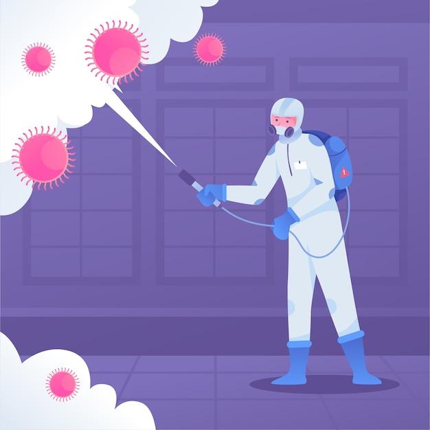 Processus De Désinfection Par Virus Vecteur gratuit