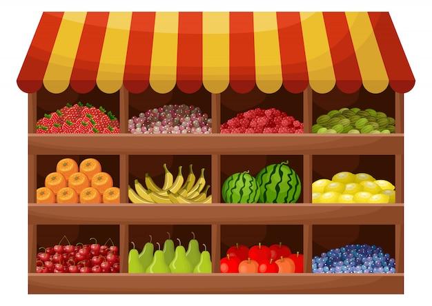 Producteur De Fruits Vecteur Premium