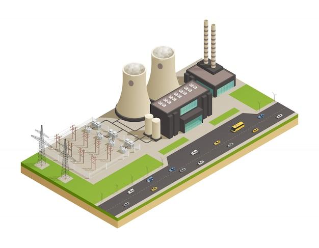Production d'énergie électrique Vecteur gratuit