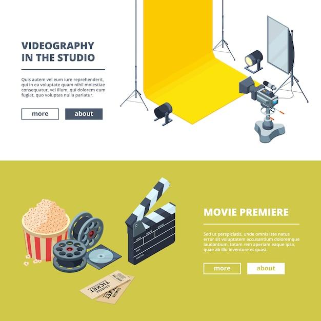 Production vidéo et photo. Vecteur Premium