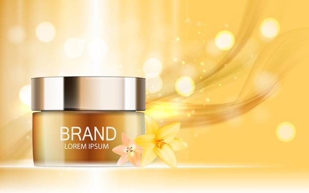 Produit cosmétique design 3d illustration réaliste Vecteur Premium