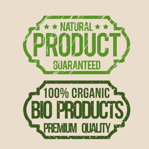 Produit naturel Vecteur Premium
