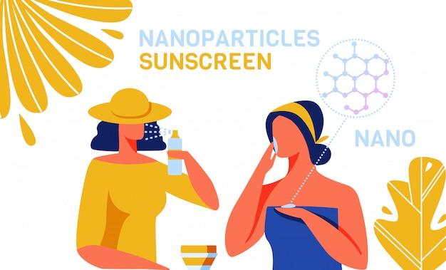 Produits de soin de la peau avec nanoparticules Vecteur Premium