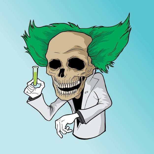 Professeur mort Vecteur Premium