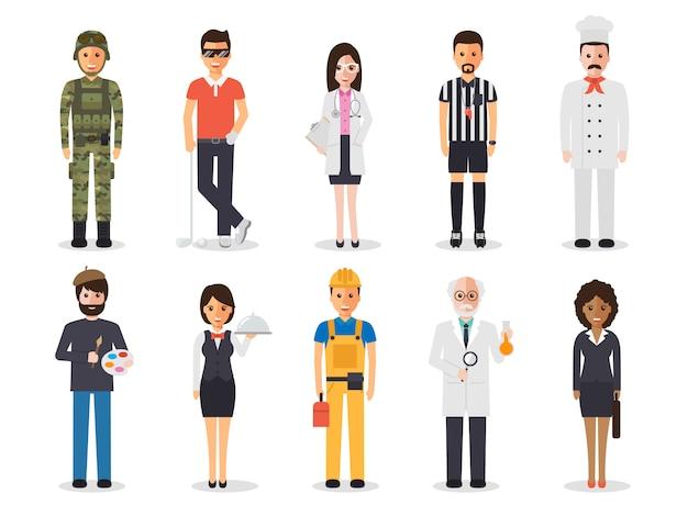 Profession profession people. Vecteur Premium