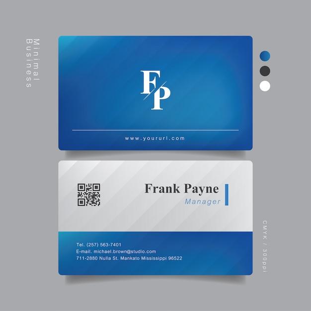 Professionnel élégant De Carte De Visite Vecteur Premium