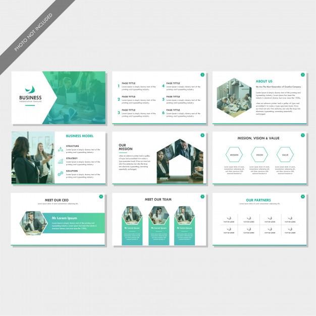 Profil de l'entreprise présentation de la diapositive Vecteur Premium