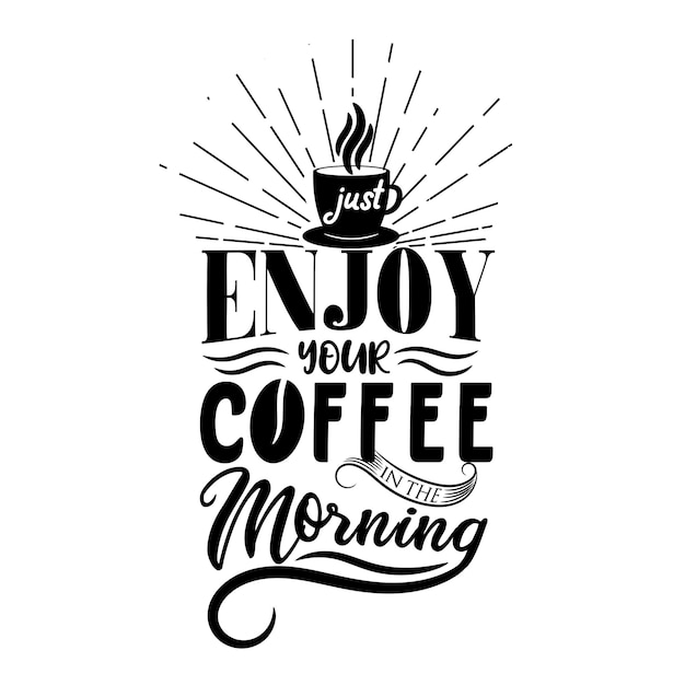 Profitez de votre café le matin Vecteur Premium