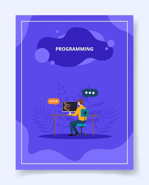 Programmation D'applications Logicielles De Développement Homme Sur Ordinateur Vecteur Premium