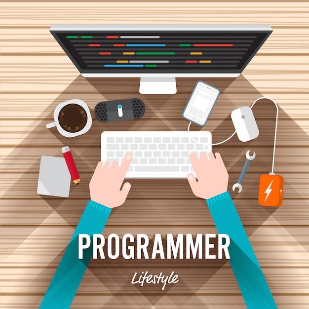Programmeur Vecteur Premium