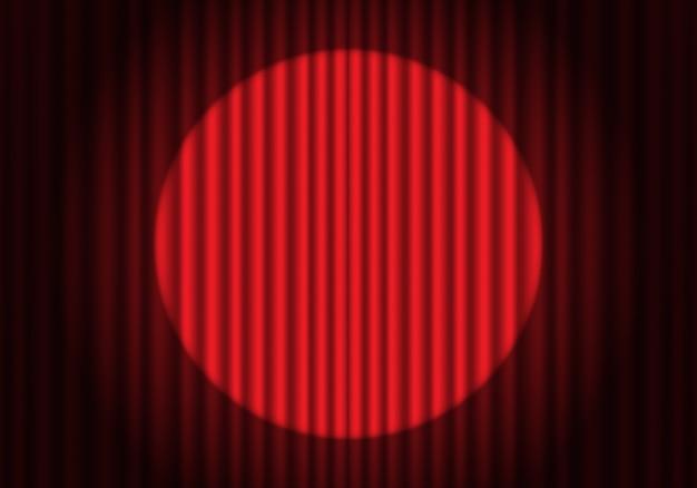 Projecteur abstrait sur le rideau rouge fermé   Télécharger des ...