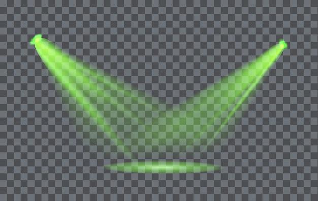 Projecteur à Effet De Lumière Avec Fond Transparent Vecteur Premium