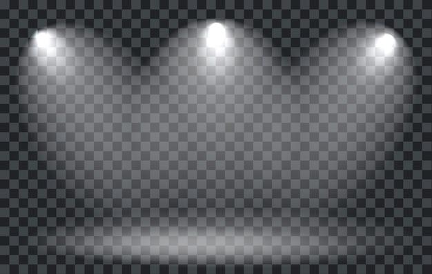 Projecteur à Effet De Lumière Avec Transparent Vecteur Premium