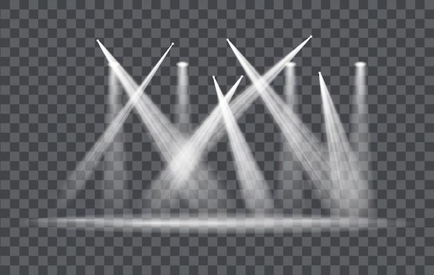 Projecteur à Effet De Lumière Vectorielle Vecteur Premium